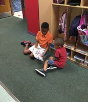 Miles and his reading buddy
