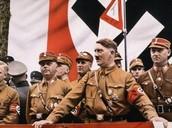 Adolf Hitler making a speech.