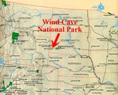 Location of Wind Cave National Park