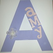 """""""Amy"""" Wooden Letter"""
