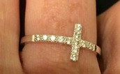 Silver Cross Ring Size 9 $15 - SOLD