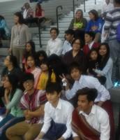 Nepoli & Burmese Dancers Perform at Varsity Basketball Game
