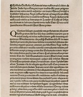Columbus's First Letter