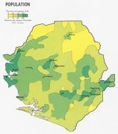 Mapa de densidad de Sierra Leona