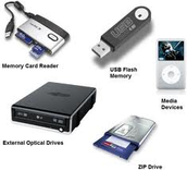 What are computer storage devices