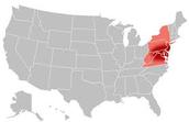 What region was Pennsylvania in?