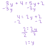 4. Solve for Y