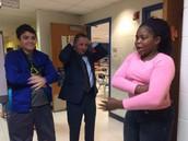 Teaching Dr. Menzo their skills!