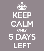 The count down is on!