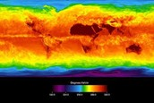 Infrared image of the Continents