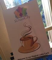 "SchoolCity sponsored ""Magical Latte Cart"""