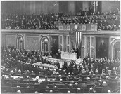 April 2, 1917- Wilson petitions to congress to go into war