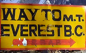 Sign to Everest