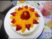 El pastel: cinco mil setecientos cincuenta y dos colónes.