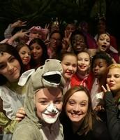 Cast selfie, closing night
