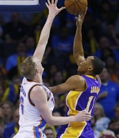 NBA Player Wesley Johnson Attempting Layup
