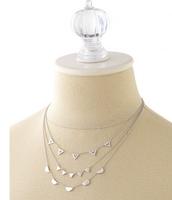 Pave` Chevron Necklace (silver)