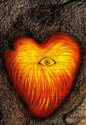 At the core of the Heart is the Eye that emanates its on Light!
