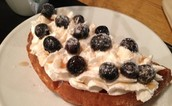 FRESH CREAM AND BLUEBERRY WAFFELS