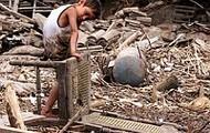homeless little boy