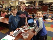 MakeyMakey time in the library