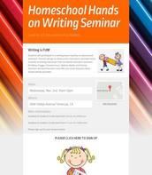 Writing Seminar - Temecula - Nov. 2