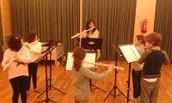 Piano, guitarra, saxo, trompeta, clarinet i flauta travessera