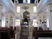 אולם התפילה בבית הכנסת