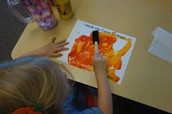Making the color orange painting activity