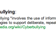 The Definition of Cyberbullying
