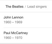 Who was the lead singer for the Beatles?