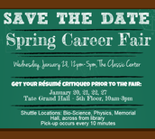 UGA Spring Career Fair - Save the Date!