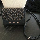 $34.50 Small Crossbody - Black/ Rose Gold