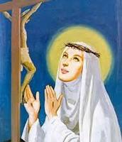 Catherine of Siena Praying to Jesus