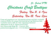 Our PTU Christmas Craft Boutique is the number one fundraiser for PTU!