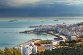 A view of the coastal city