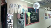Creative Getting Ready for testing bulletin board. (Mrs. McConnell)