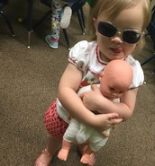 """Mil mil and her shades and baby( Brit is a good sharer as this is her """"Baby Bruddah"""" baby doll."""