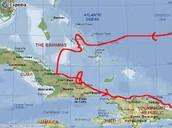 Christopher Columbus' 1st voyage