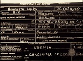 Henrietta Lacks Death Certificate