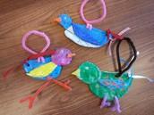 2nd grade- Shape bird slab sculptures