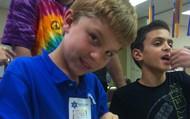 Austin enjoys a Shabbat activity!
