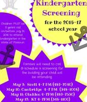 Kindergarten Screenings