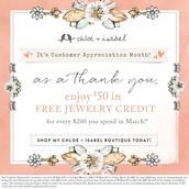 Customer Appreciation Month-long Promo