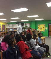 Mr. McKie's Student Speaking with Students in UK