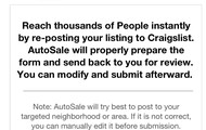About AutoSale: Auto Post To Craigslist