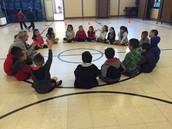 Kindergarten P.E. with                        Mr. Thomas