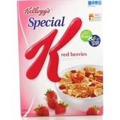 Special K cereal (the kind with strawerries)