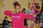 Students Learn Archery in PE