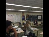 Yearbook presenting design techniques in Mrs. Bond's class